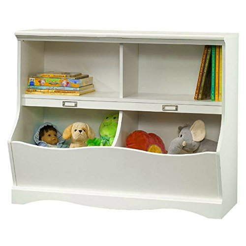 BS Bookcase Storage Bins White Kids Toys Storage Cabinet Organizer Cubbyhole Indoor Home Childrens Room Entryway Ferniture Casual Style Decorative Unit & eBook by BADA shop (Ferniture)