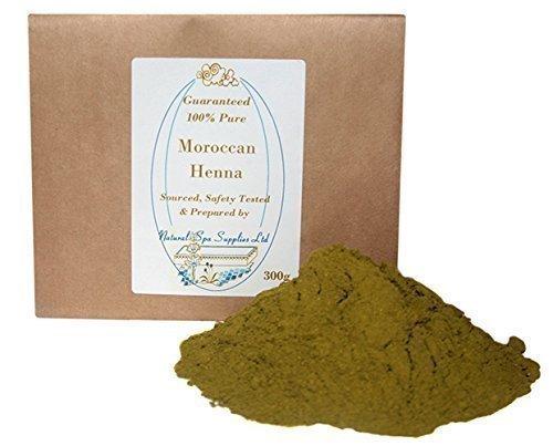 100% Pure Moroccan Henna Powder, 300g, Natural Hair Dye Natural Spa Supplies Ltd H300