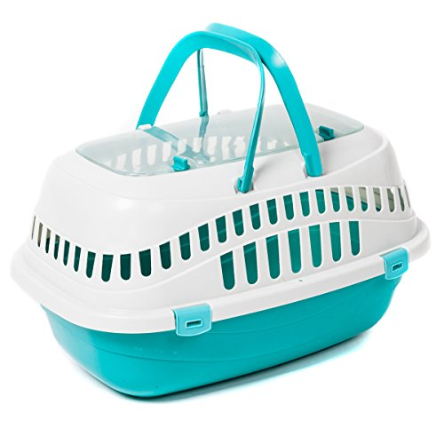 Favorite-Top-Load-Portable-Pet-Small-Animal-Carrier-Outdoor-Short-Trip-Travel-Vet-Visit