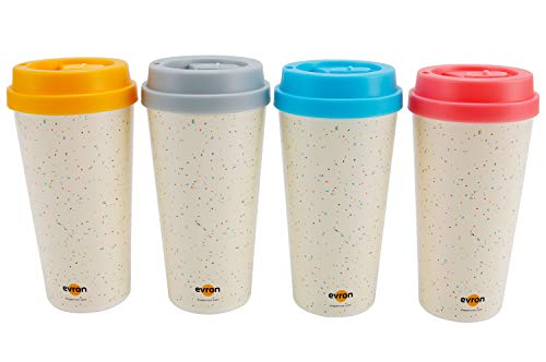 9bdd130c07e Spill Proof Coffee Mugs with Anti-Leak Locking Lid, Insulated Double-Wall  for