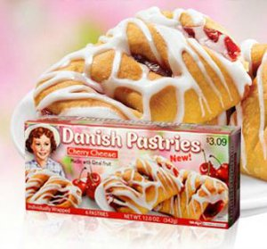 Little Debbie Cherry Cheese Danish Pastries 12 Oz (2 Pack) ()