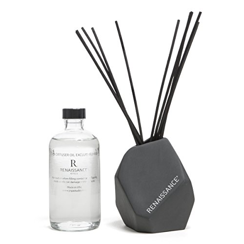 Renaissance Hotels Shiso Tea Diffuser, Crafted by Joya, 12 Black Reeds in Ceramic Vessel by Renaissance Hotels