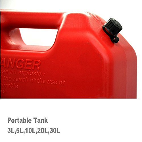 SXMA 10L Fuel Tank Cans Spare 2.6 Gallon Portable Fuel Oil Petrol Diesel Storage Gas Tank Emergency Backup (Pack of 1) Red by SXMA (Image #4)