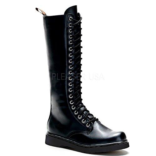 Demonia Men's Def400/b/pu Boot, Black Vegan Leather, 11 M ()