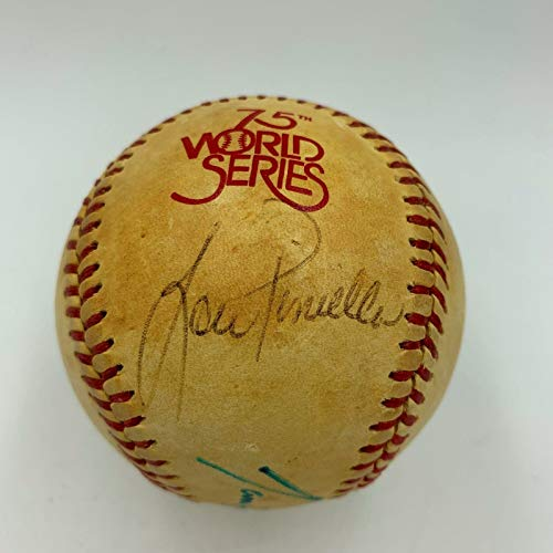 1978 World Series NY Yankees Los Angeles Dodgers Signed Game Used Baseball JSA