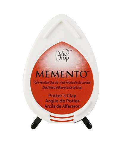 Tsukineko Memento Dew Drop Fade Resistant Inkpad of All Kinds, Potter's Clay