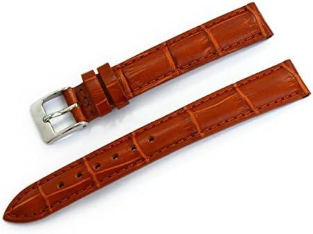 CASSIS[カシス] カーフ クロコダイル型押し時計ベルト DONNA ドナ ゴールドブラウン 13mm [正規輸入品]