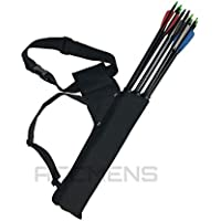 Archery Arrow Holders 3 Tube Bag Back Side Waist Quiver Black Hunting Sport