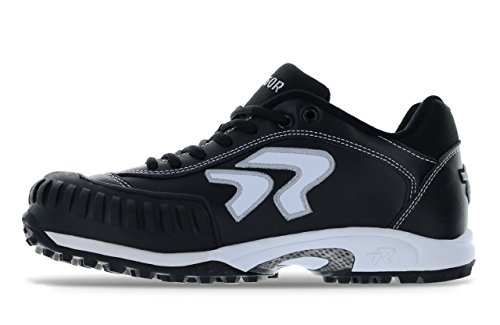 Diamond Softball Cleats - Ringor Dynasty Turf Shoe- Pitching 10.0 Black/White