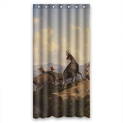 Eyeselect Shower Drape Of Beautiful Scenery Landscape Painting Polyester Width X Height / 36 X 72 Inches / W H 90 By 180 Cm Best Fit For Relatives Father Custom Husband Gf. Modern Design ()