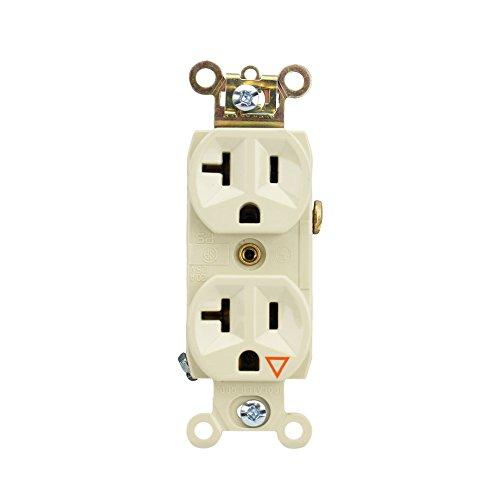 Pass & Seymour IG6300-I Duplex Receptacle Isolated Ground 20A 125V, Ivory (10 Pack)