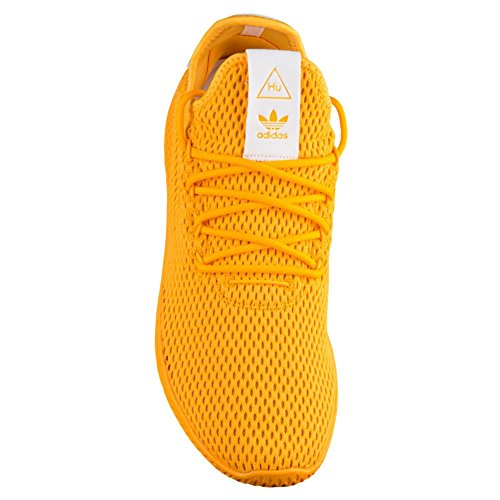 adidas Herren Pharrell Williams Tennis HU Sportschuh Collegiate Gold / Schuhe Weiß