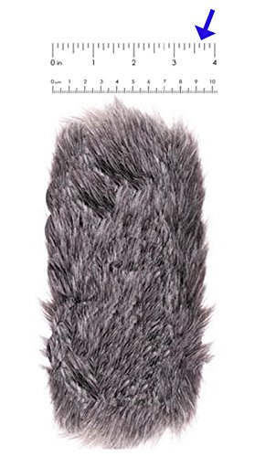 Furry''Dead Cat'' Professional Microphone Wind Muff (Full Size) - (L) 7.25'' x (W) 3.625'' - 1'' Opening - (184mm x 92mm) - 25mm Opening - Fits Rode Videomic Pro, Rode NTG1, 2, 3 & 4. Plus Many More.