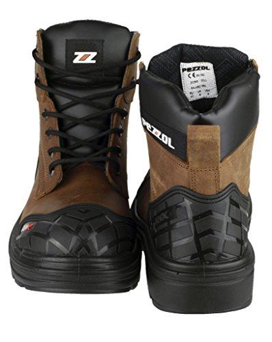 Pezzol Amazon 649wasserabweisend Stahlkappe Schuhe Herren Sicherheit Stiefel, Braun