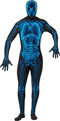Morris Costumes Halloween Party Adult X Ray Skin Suit (Human Body Suit Costume)