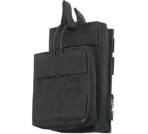 BE-X Gestapelte Magazintasche CQB, MOLLE, für zwei M4/M16 Magazine - schwarz