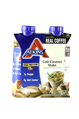 ATKINS Ready To Drink Shake, Cafe Caramel, 11-Ounce (Pack...