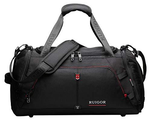 Ruigor Motion RGL6407 Duffel Bag Black Water Repellent Materials by Ruigor