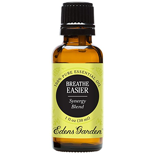 Edens Garden Breathe Easier 30 ml 100% Pure Therapeutic Grade GC/MS Tested (Lemon, Peppermint, Eucalyptus, Moroccan Rosemary)