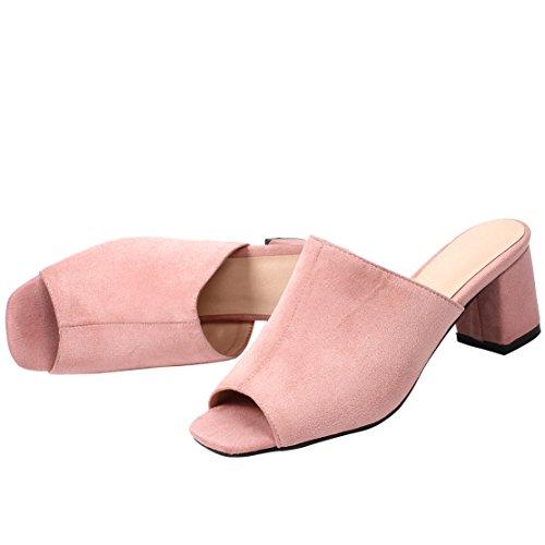 Pink AIYOUMEI Aperte sulla Caviglia Donna wXq4f81