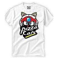 Pizza Cats Gatos Samurai Playera Hombre Rott Wear