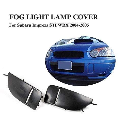 JC SPORTLINE Fog Light Covers fits Subaru Impreza STI WRX 2004 2005 Front High End Custom Fog Cover Caps Side Fender ()