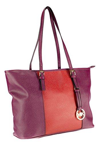 Maße femme porter à l'épaule pour 14cm Purple Red x Bordeuax Sac x MB6005 ca à MIK 36cm 27cm Ct8qpx