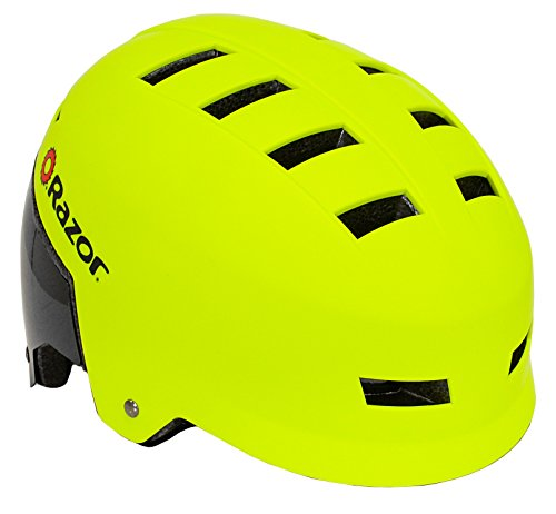 Razor Youth Helmet - Razor Dual Shell Mulit-Sport Helmet, Youth, Green/Black