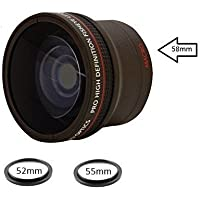 0.18X Ultra-Wide Fisheye Converter Lens w/ Macro Close-Up Attachment For Canon, Carl Zeiss, Fujifilm, Nikon, Panasonic, Pentax, Olympus, Samsung, Sigma, Sony, Tamron, Tokina Lens