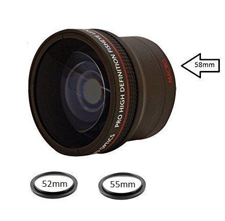 0.18X Fisheye Converter Lens w/ Macro Attachment For D3100c D3200c D3300c D5000c D5100c D5200c D5300c D5500c D7000c D7100c D7200c D90c D300c D500c D600c D610c D700c D750c D800c D810 DSLR
