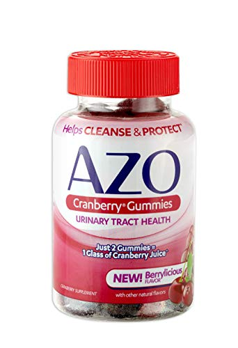 AZO Cranberry Urinary Tract Health Gummies Dietary Supplement | 2 Gummies = 1 Glass of Cranberry Juice | Helps Cleanse & Protect* | Natural Mixed Berr