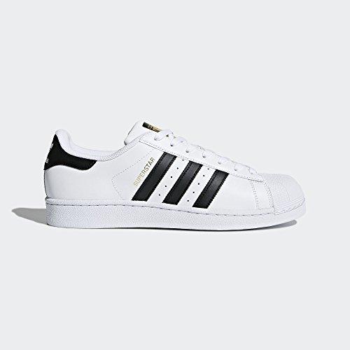 adidas Originals Men's Superstar Shoe Running Core Black/White, 11 M US (Super Shoes)
