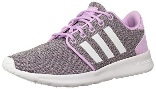 adidas Women's CF QT Racer Running Shoe, Clear Lilac/White/Black, 9 M US