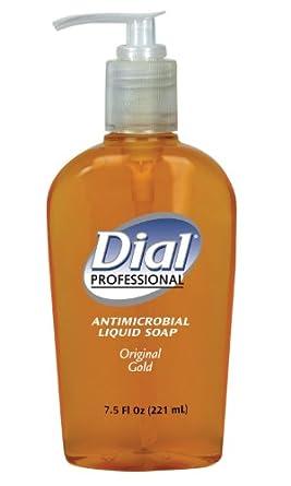 Dial Professional 84014 Liquid Dial Gold Antimicrobial Soap Decorative Pump 7.5 Oz. (Case of 12)