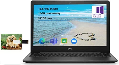 2020 Newest Dell Inspiron 15.6 inch Laptop, 10th Gen Intel Core i5-1035G1, 16GB RAM, 512GB SSD, HDMI, WiFi, Intel UHD Graphics, Bluetooth, Online Class Win 10 Pro | 32GB Tela USB Card WeeklyReviewer