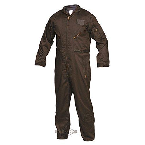 TRU-SPEC 2653025 27-P Basic Flight Suit, Large Long, Black