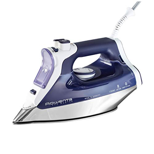 Rowenta DW8080 Pro Master 1700-Watt Micro Steam Iron Stainless Steel Soleplate with Auto-Off