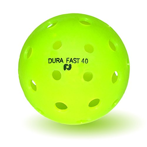 Pickle-Ball, Inc. Dura Fast 40 Outdoor Pickleball. 6-Pack, Neon Green