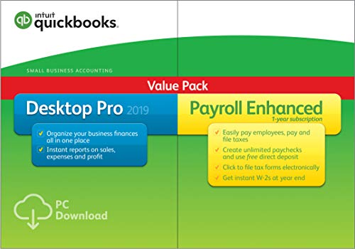 QuickBooks Desktop Pro 2019 with Enhanced Payroll [PC Download]