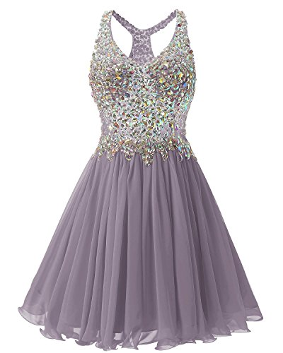 Beaded 2016 Heimkehr Damen Kurz Bridesmaid Ballkleid Fanciest Abendkleider Dress Grey Pg5Wq