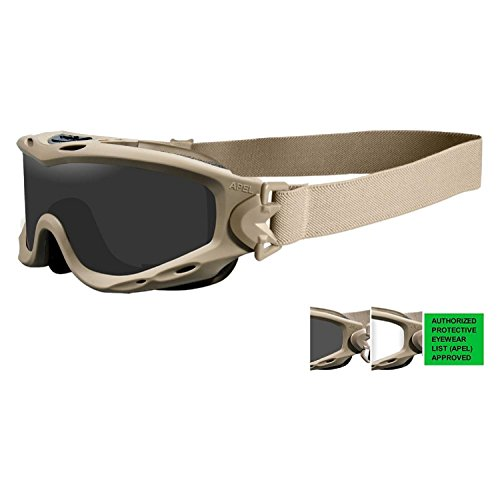 Wiley X SP30T Spear Goggles Apel, Tan by Wiley X