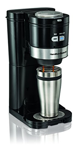 Hamilton Beach Coffee Maker, Grind and Brew Single Serve, Black (49989) ()