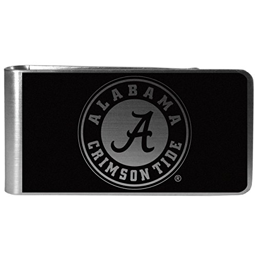 Alabama Money Clip - NCAA Alabama Crimson Tide Black & Steel Money Clip