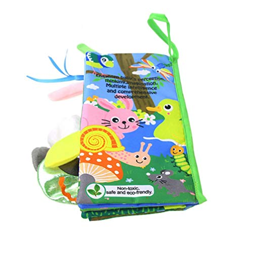 LiPing Kids Wonderful Animal Friend Cloth Book Baby Educational Toy for Boy & Girl, Touch and Feel Activity, Gift Box, Shower Gifts (B) - Domino Outdoor Fabric