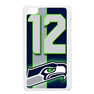 Custom Phone Case With Seattle Seahawks Image - Nice Designed For iPod Touch 4