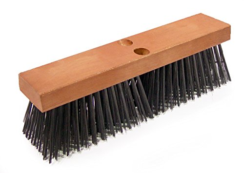 12carbon steel wire deck brush w//o h Carbon Steel Wire Deck Brushes