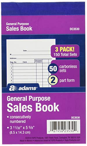 (Adams General Purpose Sales Books, DC3530, Case of 18 )