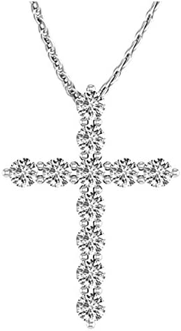 3/4 Carat Total Weight 14K White Gold Diamond Cross Premium Collection