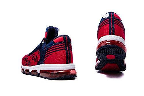 Da Scarpe Unisex Blu Mid Corsa top Uomo Onemix Adulto Scuro Sportive Air Traspirante Donna Cushion Sneakers rosso Running REwgC5q