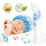 Little Martins Drawer Baby Electric Nasal Aspirator - Safe, Fast, Hygienic Automatic Snot Sucker for Newborn Infant Toddler and Kids - Battery Operated Nose Cleaner